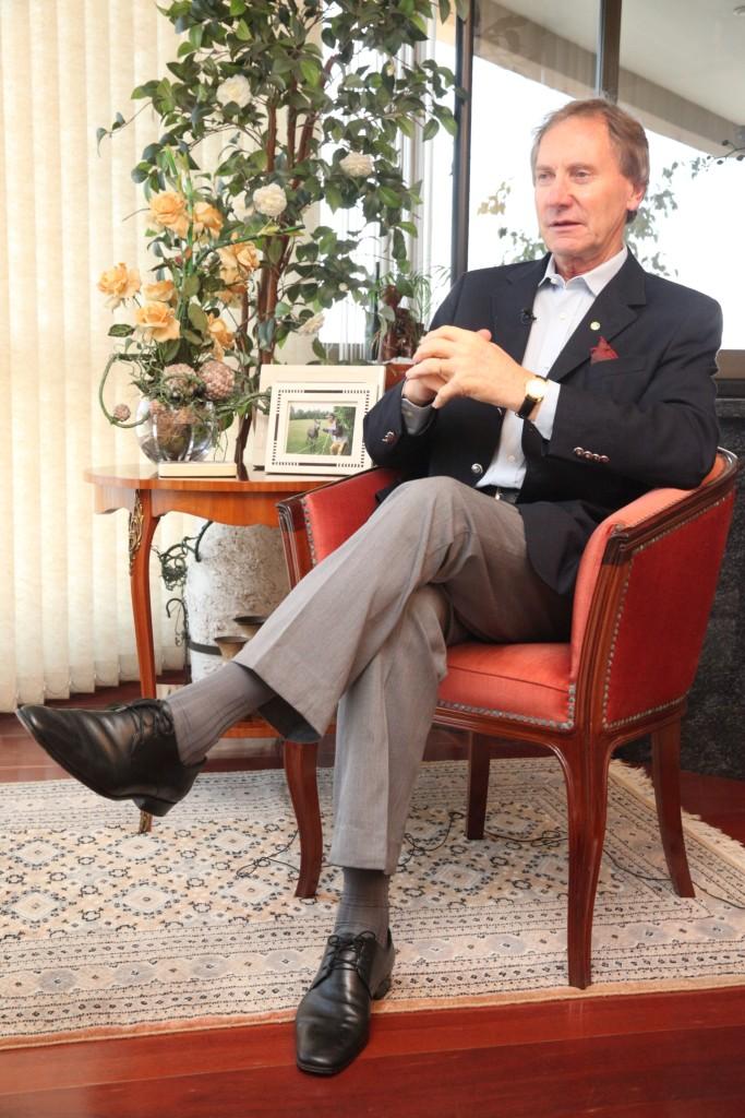 Casildo Maldaner, durante entrevista, em 2013